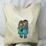 regalos originales hecho a mano pintadas bolsa gorjuss 02