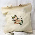 regalos originales hecho a mano pintadas bolsa unicornio 02