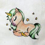 regalos originales hecho a mano pintadas bolsa unicornio 03