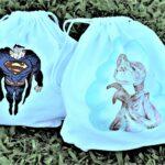 regalos originales hecho a mano pintadas mochila ET SUPERMAN